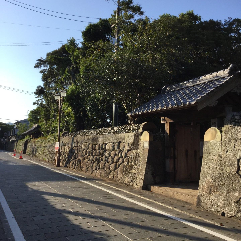福江にある武家屋敷通り